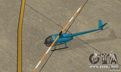 Robinson R44 Raven II NC 1.0 TV for GTA San Andreas back view