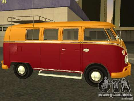 Volkswagen Transporter T1 Camper for GTA San Andreas left view