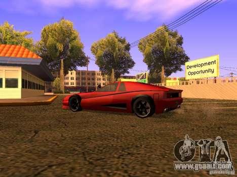 New Cheetah for GTA San Andreas back left view