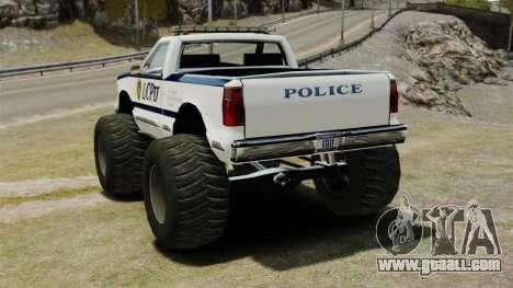 Cop Monster Truck ELS for GTA 4 back left view