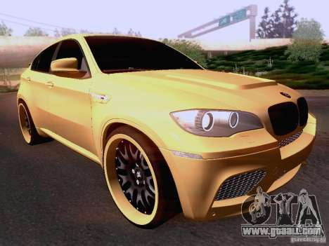 BMW X6M Hamann for GTA San Andreas left view