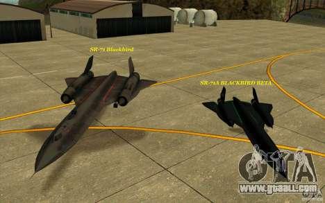 SR-71A BLACKBIRD BETA for GTA San Andreas upper view
