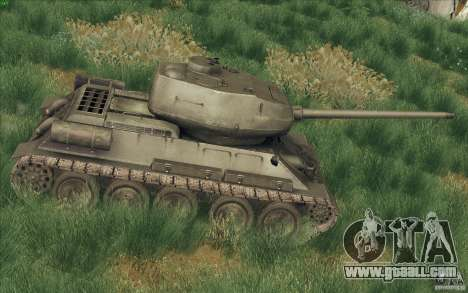T-34-85 from the game COD World at War for GTA San Andreas left view