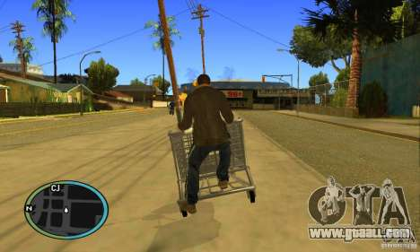 Shopping Cart Faggio V2 for GTA San Andreas back view