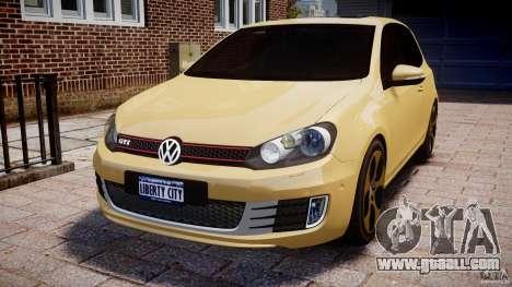 Volkswagen Golf GTI Mk6 2010 for GTA 4