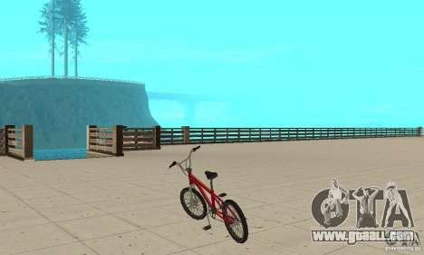 SA BMX for GTA San Andreas back left view