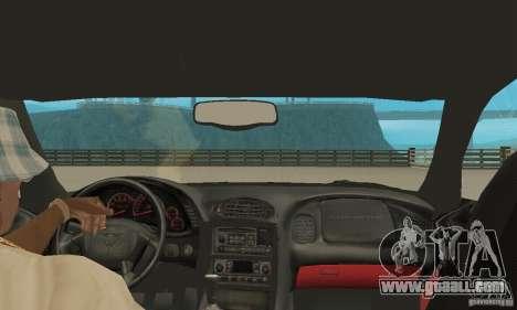 Chevrolet Corvette 5 for GTA San Andreas inner view