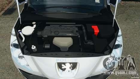 Peugeot 308 GTi 2011 Police v1.1 for GTA 4 upper view