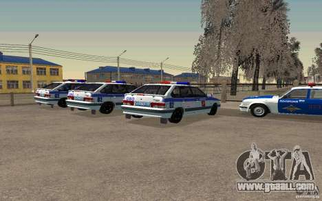 Vaz 2114 PSB Police for GTA San Andreas left view