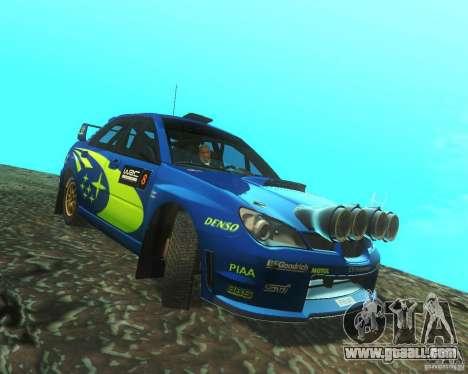 Subaru Impreza WRX STI DIRT 2 for GTA San Andreas back view