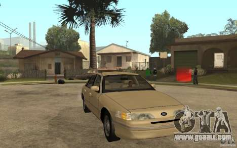 Ford Crown Victoria LX 1992 for GTA San Andreas back view