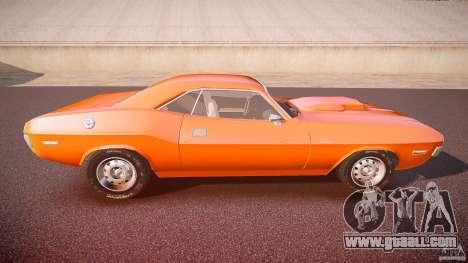 Dodge Challenger v1.0 1970 for GTA 4 side view
