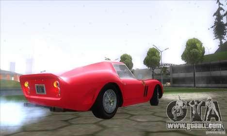 Ferrari 250 GTO 1962 for GTA San Andreas back left view