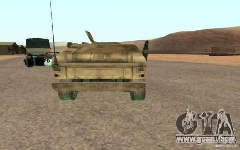 Hummer Spec Ops The Line for GTA San Andreas back left view