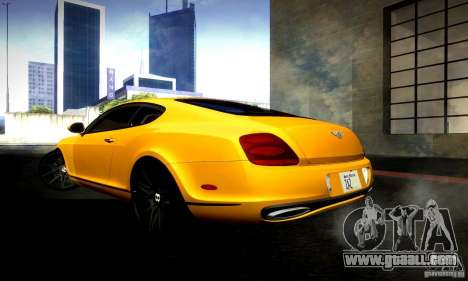 Bentley Continental Supersports for GTA San Andreas back view