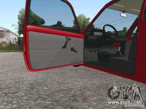 VAZ 1111 Oka for GTA San Andreas inner view