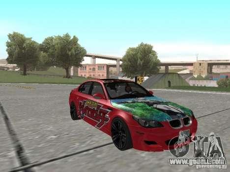 BMW M5 E60 for GTA San Andreas engine