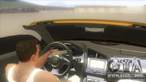 Audi R8 5.2 FSI Spider for GTA San Andreas left view