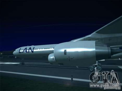 Airbus A340-600 LAN Airlines for GTA San Andreas back left view