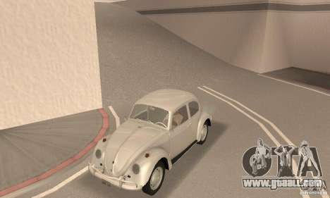 Volkswagen Beetle 1963 for GTA San Andreas back view