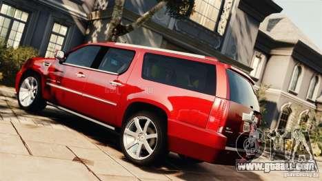 Cadillac Escalade ESV Platinum 2012 for GTA 4 left view