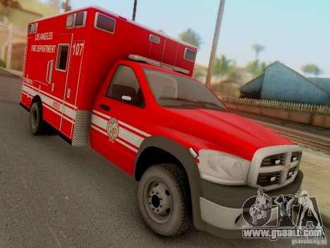 Dodge Ram 1500 LAFD Paramedic for GTA San Andreas back view