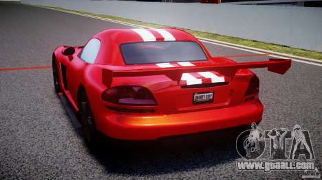 Dodge Viper RT 10 Need for Speed:Shift Tuning for GTA 4 back left view