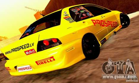 Mitsubishi Lancer Evolution VIII - ProSpeed for GTA San Andreas right view