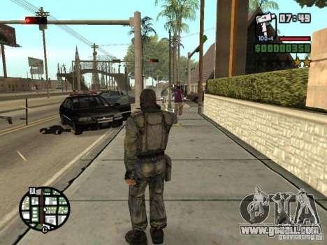 Stalker mercenary in mask for GTA San Andreas sixth screenshot