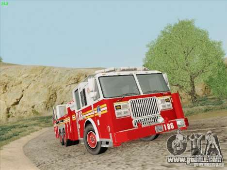 Seagrave Marauder. F.D.N.Y. Tower Ladder 186 for GTA San Andreas back view