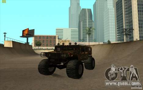 Hummer H1 Humster for GTA San Andreas back left view