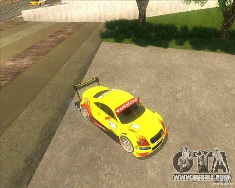 Audi TTR DTM racing car for GTA San Andreas back left view
