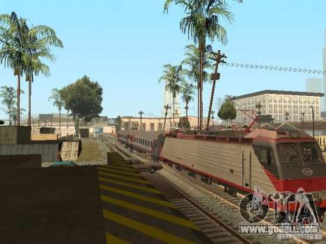 Passenger car RZD v2.0 for GTA San Andreas right view