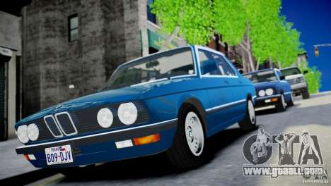 BMW 535 E28 for GTA 4 back left view