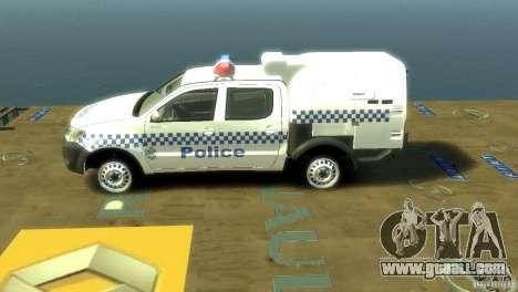 Toyota Hilux Australian Police ELS for GTA 4 left view