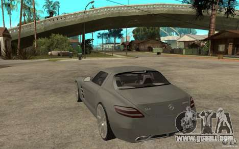Mercedes-Benz SLS for GTA San Andreas back left view