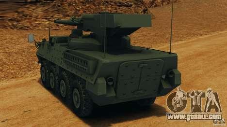 Stryker M1128 Mobile Gun System v1.0 for GTA 4 back left view