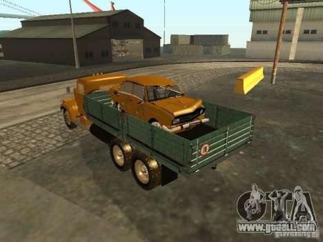 KrAZ truck flatbed v. 2 for GTA San Andreas right view
