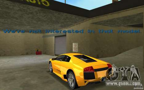 Lamborghini Murcielago LP640 for GTA Vice City back left view