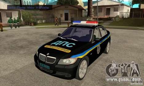 BMW 3 Series DPS for GTA San Andreas