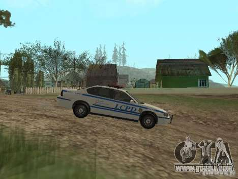 Police from GTA 4 for GTA San Andreas left view