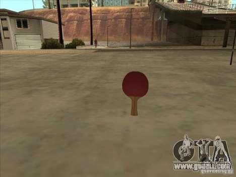 Tennis racquet for GTA San Andreas
