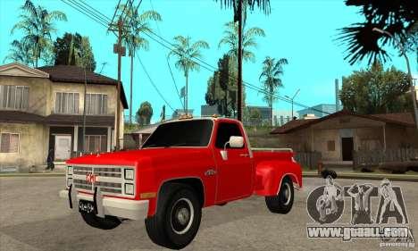 GMC 454 PICKUP for GTA San Andreas