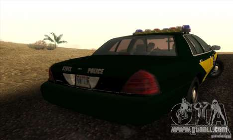 Ford Crown Victoria Indiana Police for GTA San Andreas left view
