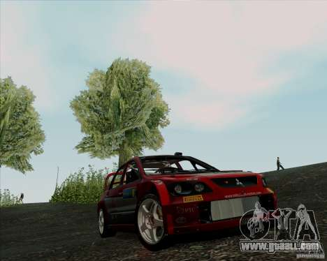Mitsubishi Lancer Evolution VIII WRC for GTA San Andreas left view