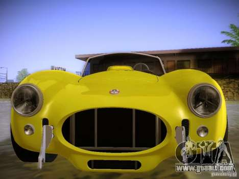 Shelby Cobra 427 for GTA San Andreas back view