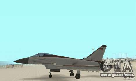 EF-2000 Typhoon V1.3 for GTA San Andreas inner view
