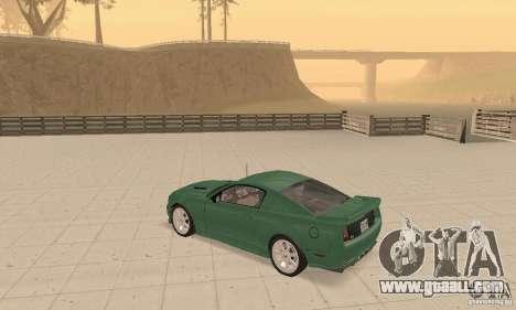Saleen S281 v2 for GTA San Andreas inner view