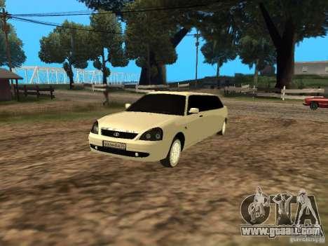 LADA 2170 Priora Limousine for GTA San Andreas