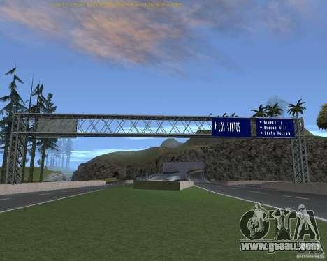 Road signs v1.1 for GTA San Andreas fifth screenshot